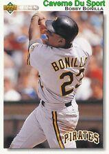 225 BOBBY BONILLA PITTSBURGH PIRATES BASEBALL CARD UPPER DECK 1992