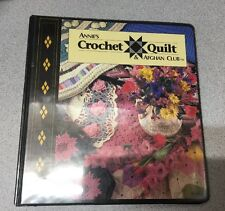 Annie's Crochet Quilt and Afghan Club 3 Ring Binder with 78 Patterns