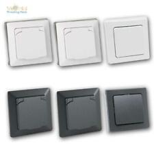 MILOS Schalter & Steckdosen Sets IP44 Feuchtraum/Badezimmer unterputz 230V UP