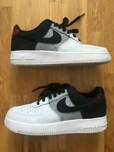 Nike Air Force 1 07 LV8 Low profile Men's Grey/White Leather Trainers UK Size 9