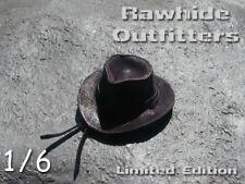 1/6 Brown Weathered Genuine Leather Western Hat