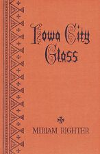 Antique Iowa City Pressed Glass - History Identification / Scarce Book