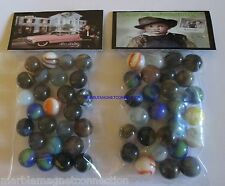 2 BAGS OF ELVIS PRESLEY YOUNG BOY & OLDER GRACELAND ADVERTISING PROMO MARBLES