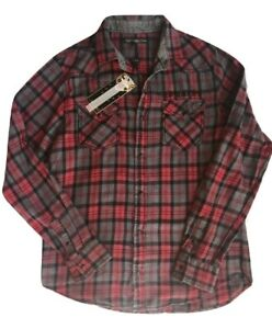 Ed Hardy Men's Long Sleeve Shirt  Red Size M