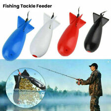 2x Large Rocket Squid Bomb Fishing Tackle Tool Particle Feeder Float Bait Holder