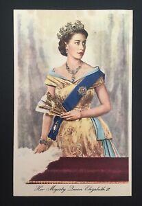 Postcard Queen Elizabeth II Portrait by Dorothy Wilding with Sparkling Jewellery