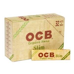 OCB Organic Hemp King Size Slim Connoisseur Smoking Rolling 32 Paper Tips Roach
