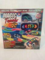 Magic Tracks Turbo RC Remote Control Turbo Blue Race Car 10' Flexible Glow Track