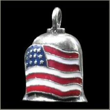 American Flag Motorcycle Guardian Angel Harley Good Luck Gremlin Bell Made in US