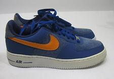new Nike Air Force 1 Storm Blue Vivid Orange 488298-404 Size 8