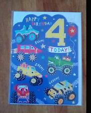 4th birthday card 16.5cm x 12.5cm