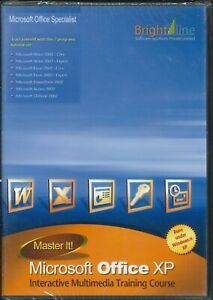 Microsoft Office XP Training Course Sealed PC CD-ROM Word, Excel, PowerPoint