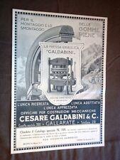 Pubblicità del 1920 Pressa idraulica Galdabini + Dentifricio Jaliklor