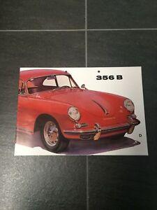 Prospekt Faltprospekt original Porsche 356 B von 1960, 8 Seiten W22 deutsch