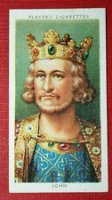 KING JOHN  of England   Vintage Small Portrait Card