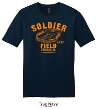 Soldier Field 1971 Football Tee Shirt - Past Home of Your Chicago Bears