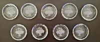 Antique Czech Intaglio CRYSTAL Glass place card holder Set  9 BEAUTIFUL No chips
