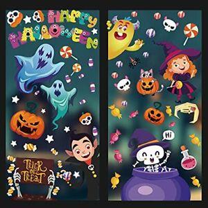 Halloween Stickers Window 100Pieces Reusable Window Display Decorations for Kids