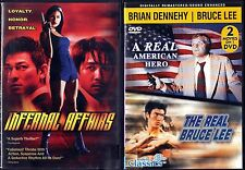 Infernal Affairs & A Real American Hero - The Real Bruce Lee; 2 DVDs,3 Movies