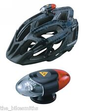 TOPEAK TMS034 HEADLUX Bike Helmet Mount Bicycle LED LIGHTSET Front & Rear in 1