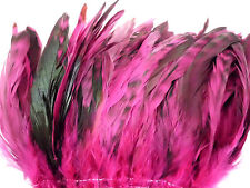 "25 HOT PINK CHINCHILLA GRIZZLY ROOSTER TAILS CRAFT MILLINERY FEATHERS 6""-8""L"