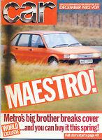 CAR magazine Dec 1982 Maserati Biturbo 3500 Vignale Renault 5 VW Golf BMW 3 7