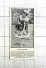 1908 Pretty And Popular Russian Actress Mdlle Troukhanoff, Chic Skating Costume