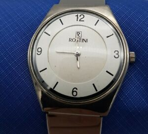 ROSTINI Mens Quartz Watch With Silver Coloured Adjustable Strap In Working Order