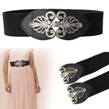 60mm Mujer Elástico Cintura Elástica Cinturón Con Hebilla de Metal Para Vaquero