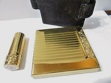 COMPACT FANCY WITH LIPSTICK AND CASE VINTAGE AVON MIRROR COSMETIC ACCESSORY
