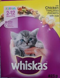 Whiskas Complete Chicken Kitten Food   Cats with Milk Pockets Healthy Growth