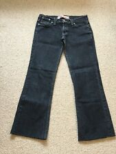 Miss Selfridge Size 6 Cropped Black Stretch Jeans Low Rise