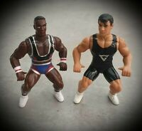 X2 Hornby Gladiators Action Figure Bootleg Knock Off Bundle Wrestling Retro