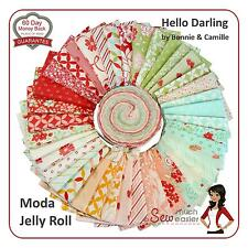 Hello Darling Moda Jelly Roll Quilt Fabric modern quilting fabrics vintage retro