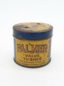 Vintage Palmer Tyre Cycle Valve Tubing Tin Automobilia Motor Classic Car Repair
