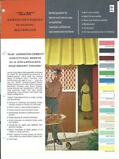 Brochure - K&M - Asbestos-Cement Building Structural Sheet - c1962 (AF204)