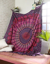 Indian Mandala Tapestry Hippie Wall Hanging Twin Bedspread Bohemian Bed Cover