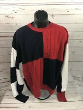 Mens Vintage Nautica Color Blocking Sweater Size Large