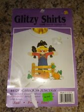 New listing Halloween Glitzy Shirts Iron-On Applique Kits Scarecrow Junction #44129