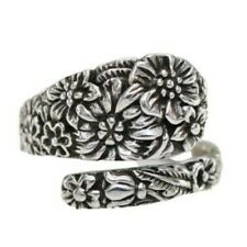 925 Solid Sterling Silver Victorian Flower Spoon Style Ring Size 6-10