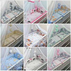 Long All Around Cot Bumper Sizes to Fit Baby Nursery / Toddler Cot / Cot Bed