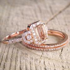 Antique Vintage Round Cut Bridal Rhinestone Crystal Engagement Wedding Ring YI
