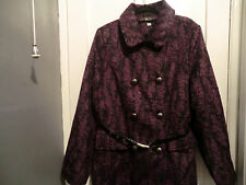 Beautiful purple and black tapestry military style coat size 16