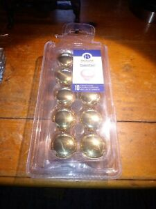 Hickory Hardware Brass Drawer Knobs 10 Pack