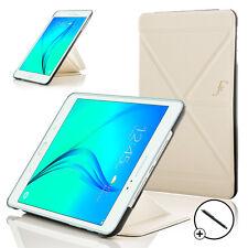 Pelle Bianca Origami Smart custodia Cover per Samsung Galaxy Tab A 9.7 + Stilo