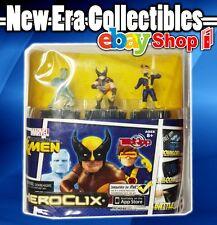Heroclix - Marvel X-Men Figurines- Wolverine - Cyclops - Iceman - NECA - Wizkids