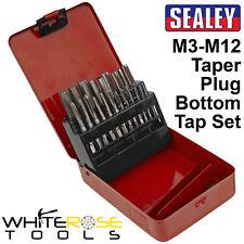 Sealey Tap Set 21pc Metric M3-M12 Taper Plug Bottom Taps Thread Repair