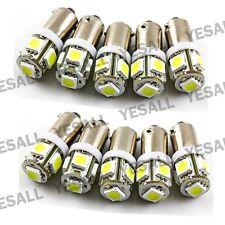 10pcs 1895 BA9S T4W 5050 SMD LED White Car Interior Side Marker Light Bulb Lamp