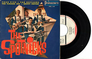 FRENCH EP THE SPOTNICKS - PRESIDENT PRC 340 - TAKE FIVE + 3 - GROUPE GUITARE
