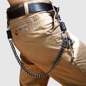 """22"""" Men's Strong Leash Heavy Metal Wallet Chains Biker Trucker Jean Key Chain"""